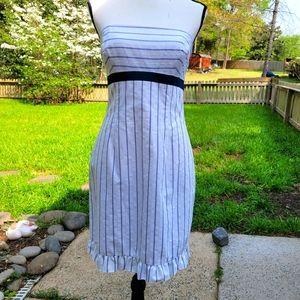 Shoshanna striped nautical strapless dress 6